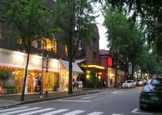 Sinsa-dong district contains many department stores, hairshops, churches, boutiques, cafes and restaurants. Singsa-dong Garosugil ( Sinsa-dong street tree road) is one of the famous place in Sinsa-dong. – à Sinsa-dong, Seoul.