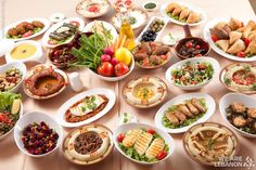 Lebanese mezze, bon appetit مازة لبنانية، تفضلو By Chef Mohammad Farran