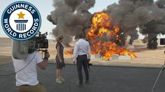 Largest film stunt explosion ever - James Bond movie Spectre. Guinness World Records