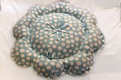 XSmall Small Pet Bed Blue Polka Dots by AngelinasAvenue on Etsy, $22.00