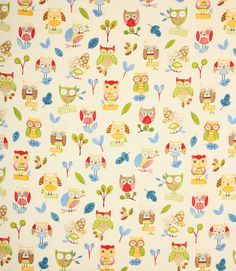 Ollie Owl - Paintbox - Just Fabric £11.50