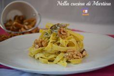tagliatelle carciofi e noci nella cucina di martina blog Spaghetti, Ethnic Recipes, Blog, Tagliatelle, Blogging, Noodle