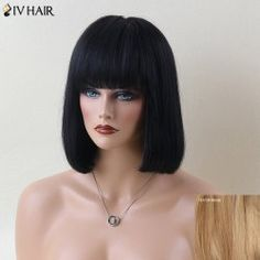 SHARE & Get it FREE | Siv Hair Fascinating Short Full Bang Straight Human Hair WigFor Fashion Lovers only:80,000+ Items • FREE SHIPPING Join Twinkledeals: Get YOUR $50 NOW!