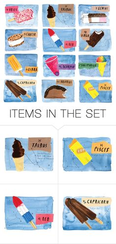 """Ice Cream Treats For Your Horoscope! Comment Below!"" by mothernaturesdaughter ❤ liked on Polyvore featuring art"