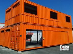 Delta Containers : IN THE BOX : Container Home Design, Eco / Green Build; Recycling Steel Shipping Containers or Connex Boxes. Shipping Container Buildings, Shipping Container Design, Container House Design, Shipping Containers, Sea Containers, Sea Container Homes, Casas Containers, Container Office, Cargo Container