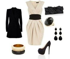 Black and white classy outfit