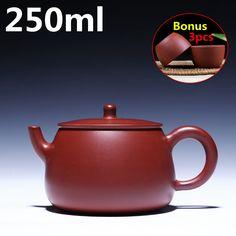 Portable Tea Set Oriental Chinese Teapots 250ml Teapot Yixing Zisha Clay Kung Fu Tea Set Purple Clay Tea Pot Bonus 3 Cups