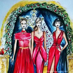Illustrations| Draw a Dot Holiday 2015 | http://www.theglampepper.com/2015/12/26/illustrations-draw-a-dot-holiday-2015/