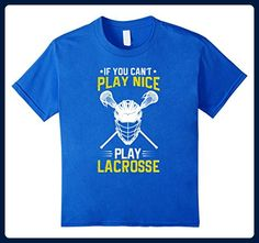 Kids Girls Lacrosse t shirts- Mens Lacrosse Shirts 6 Royal Blue - Sports shirts (*Amazon Partner-Link)