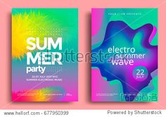Electronic music fest and electro summer wave poster. Electronic music fest and electro summer wave poster. Summer Poster, Summer Waves, Music Backgrounds, Music Fest, Club Parties, Graphic Design Projects, Special Promotion, Party Flyer, Electronic Music
