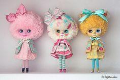 Ice cream Tiny Dolls, Ooak Dolls, Blythe Dolls, Kawaii Doll, Real Doll, Barbie, Little Doll, Doll Repaint, Dollhouse Dolls