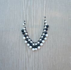 Hey, I found this really awesome Etsy listing at https://www.etsy.com/ca/listing/277195388/black-and-white-statement-necklace-black