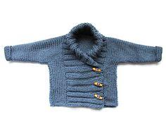 Tutorial para hacer una chaqueta de #bebe de #punto Crochet Bebe, Crochet For Boys, Love Crochet, Knit Crochet, Baby Knitting Patterns, Crochet Boarders, Couture, How To Make, Baby Sweaters