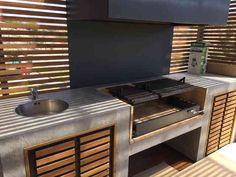 Outdoor Kitchen Plans, Outdoor Furniture Plans, Backyard Kitchen, Outdoor Kitchen Design, Summer Kitchen, Indoor Bbq, Outdoor Barbeque, Outdoor Oven, Bamboo House Design