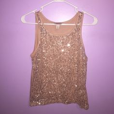 Arizona Sleeveless Sequin Top New With Tags Arizona Jean Company Tops