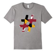 Men's Hashtag Maryland Hash Tag MD Flag #Maryland #MD XL ...