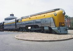 This is the only surviving streamlined Hudson and a beautiful example of a yellow steam locomotive. It is C&O number 490 and on display at the Baltimore & Ohio Railroad Museum in Baltimore, MD.