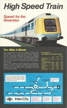 British Rail High Speed Train HST advertisement card 1974 (prior to commencement of service).