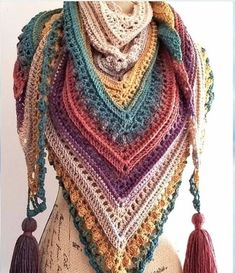 Crochet Shawl Yarn Cake Inspirations - Free crochet patterns - - yarn cake inspirations free patterns, crochet projects, spring accessories designed-by-peanut-and-plum Poncho Au Crochet, Crochet Shawls And Wraps, Crochet Scarves, Crochet Clothes, Knit Crochet, Crochet Afghans, Crochet Granny, Crochet Hippie, Boho Crochet Patterns