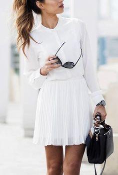 Skirt + all white