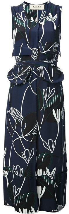 060c4d5773a Marni abstract print midi dress - very on trend