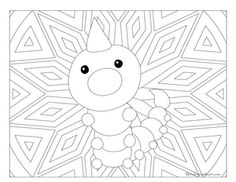 Weedle Pokemon 013 Coloring PagesKids ColoringPikachuDoodleArt Therapy
