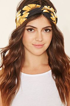 Sunflower Print Headwrap