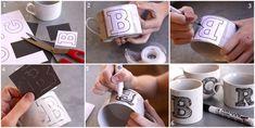Regalo para mi novio taza de café personalizada! Hace click para ver mas manualidades para hacer tu misma!!