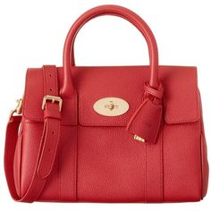 Mulberry Mulberry Bayswater Small Leather Satchel (3.345 BRL) ❤ liked on Polyvore featuring bags, handbags, scarlet, satchel purses, genuine leather handbags, leather handbags, satchel handbags and red satchel handbag