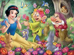 Snow White and the Seven Dwarfs Disney Cartoon Characters, Disney Films, Disney Cartoons, Disney Posters, Disney Princess Snow White, Snow White Disney, Art Disney, Disney Fun, Croquis Disney