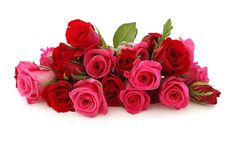Cute Red And Pink Rose Flowers Bouquet Wallpaper | All Flowers ...