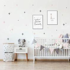 Baby Bedroom, Baby Room Decor, Deco Kids, Star Children, Star Wall, Room Doors, Nursery Design, Wall Stickers, Playroom
