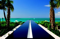 Longest infinity bar in the Caribbean at the Grace Bay Resort. Image a cocktail while looking at this view!