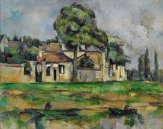 Paul Cézanne (French, 1839-1906), Banks of the Marne, c. 1888. Oil on canvas, 65 x 81.3 cm.