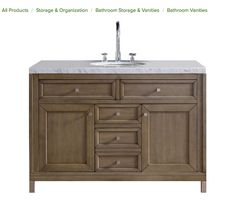 https://www.houzz.com/photos/60223431/Chicago-48-Single-Vanity-White-Washed-Walnut-4CM-Carrera-White-Stone-Top-transitional-bathroom-vanities-and-sink-consoles  $1850
