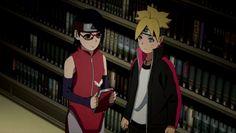 Sarada y Boruto Naruto And Sasuke, Naruto Shippuden Anime, Kakashi, Anime Naruto, Sarada E Boruto, Familia Uzumaki, Comic Anime, Boruto Next Generation, Boruto Naruto Next Generations
