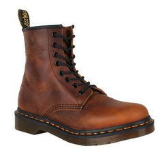 Discount Dr. Martens Womens Boots 1460 Vintga Punk Brown. Oki I love these.