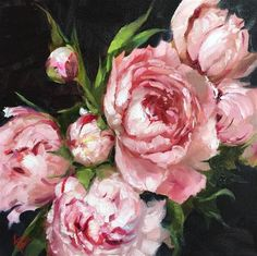 "Daily Paintworks - ""Peonies"" - Original Fine Art for Sale - © Krista Eaton"