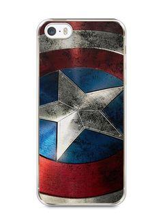 Capa Iphone 5/S Escudo Capitão América - SmartCases - Acessórios para celulares e tablets :)