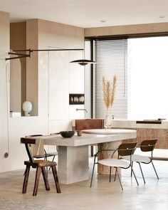 Beautiful interiors that combine an old warsaw mood with contemporary style. Featuring retro style furniture designs, rustic wood accent pieces and light decor. Rooms Ideas, Design Food, Contemporary Interior Design, Contemporary Style, Contemporary Kitchens, Modern Kitchens, Interior Modern, Modern Exterior, Contemporary Bedroom