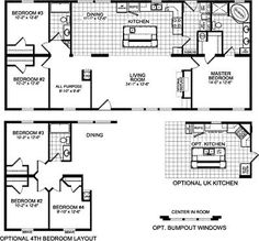 triple wide mobile home floor plans | double wide homes missouri