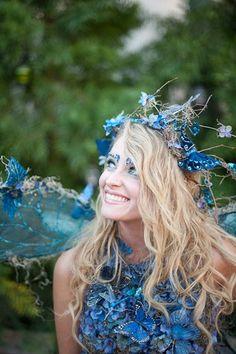blue fairy -woodland style