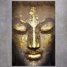 Tranquil Buddha Wall Mural Vægplakat i tapetform på AllPosters. Art Buddha, Buddha Kunst, Buddha Face, Buddha Painting, Buddha Decor, Buddha Head, Wall Painting Living Room, Images D'art, Poster Design