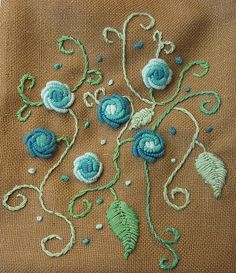 embroidered pouch - details by Kasia M., via Flickr