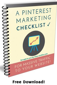 Free Checklist. Pinterest Marketing: For Massive Traffic To Your Website