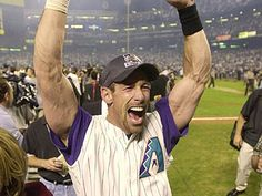 Luis Gonzalez - AZ Diamondbacks (winning the World Series)- - we only saw this great moment on TV but have enjoyed many of their games