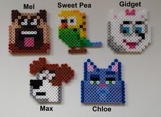 Week 10, Day 65, Movie, Life With Pets.  Perler Beads 365 Day Challenge.