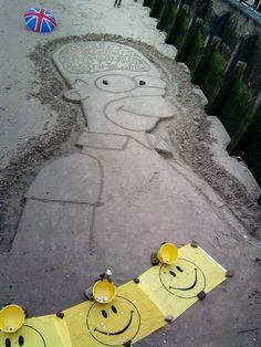 Homer Simpson está en Londres! #nosepuede