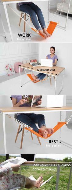 Under-Desk Foot Hammock
