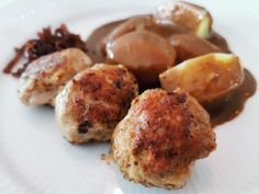 The Note - Frikadeller Food N, Food And Drink, Danish Food, Sous Vide, Baked Potato, Tapas, Cooking, Breakfast, Ethnic Recipes